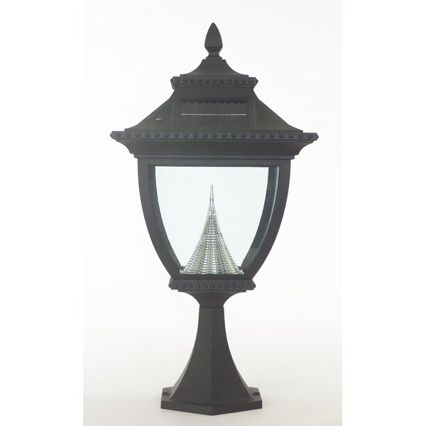 Pagoda Solar Light Fixture on Flat 8-Light LED Pier Mount Light by Gama Sonic