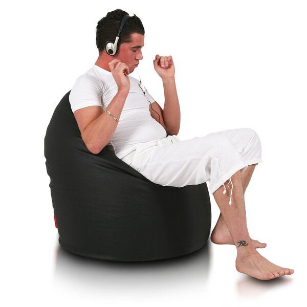 Large Faux Leather Bean Bag Chair & Lounger By Furini