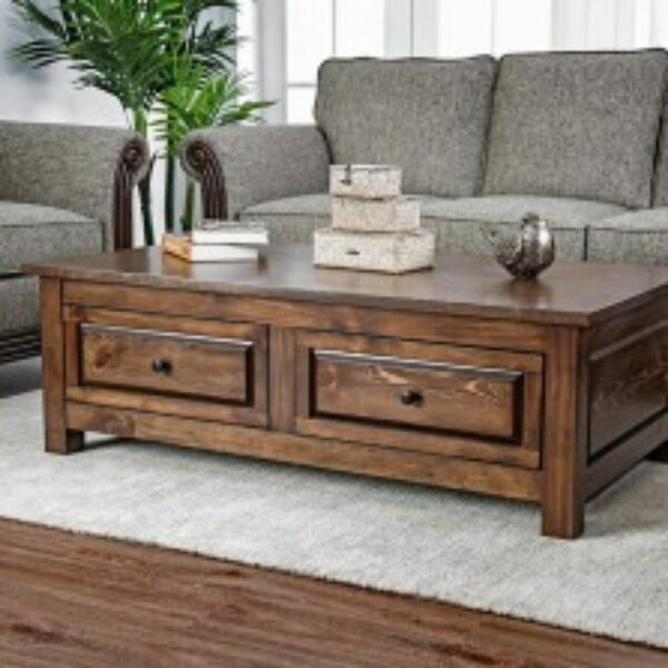 Burr Coffee Table With Storage By Millwood Pines