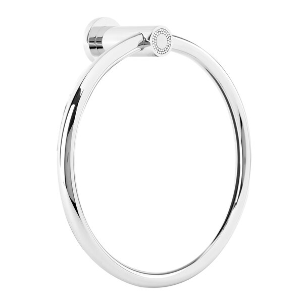 Muse Diamond Wall Mounted Towel Ring by Hispania Home