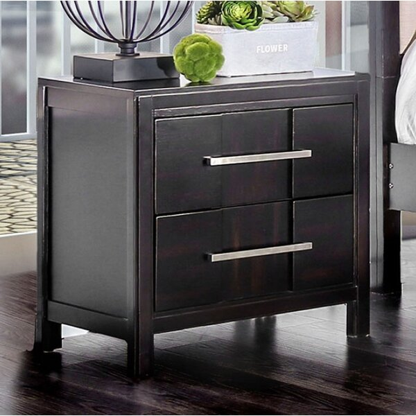 Brooten 2 Drawer Nightstand by Union Rustic
