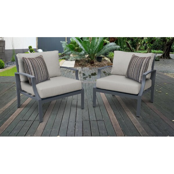 Benner Patio Chair with Cushions (Set of 2) by Ivy Bronx