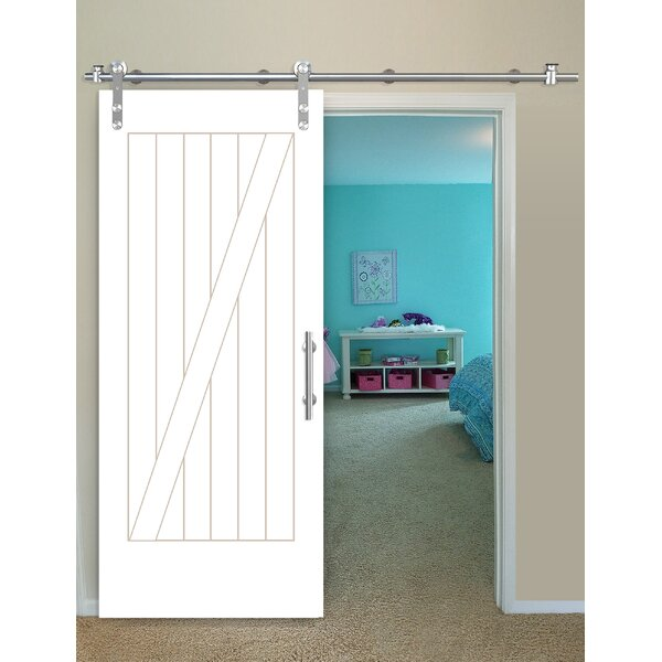 Cottage Prime Solid Wood Panelled Pine Interior Barn Door by Creative Entryways
