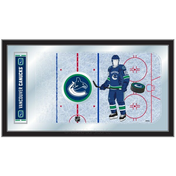 NHL Hockey Rink Mirror Framed Graphic Art by Holland Bar Stool