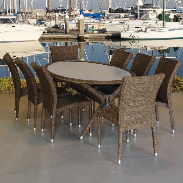 Ruckman International Home Outdoor 9 Piece Dining Set by Ebern Designs
