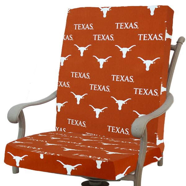 NCAA Texas Longhorns Indoor/Outdoor Dining Chair Cushion by College Covers