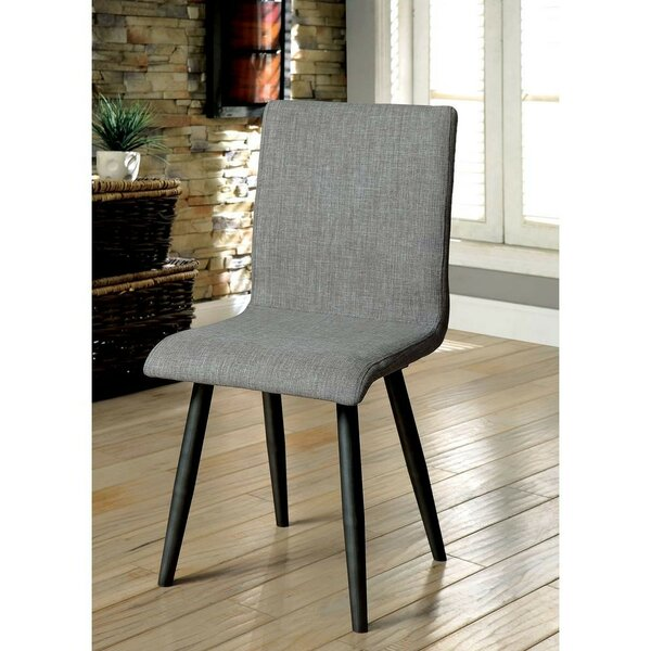 Kipp Upholstered Dining Chair (Set of 2) by Wrought Studio