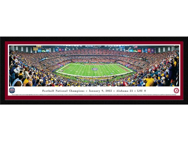 NCAA BCS Football Championship 2012 Framed Photographic Print by Blakeway Worldwide Panoramas, Inc