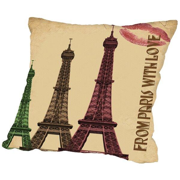 Paris France Throw Pillow by East Urban Home