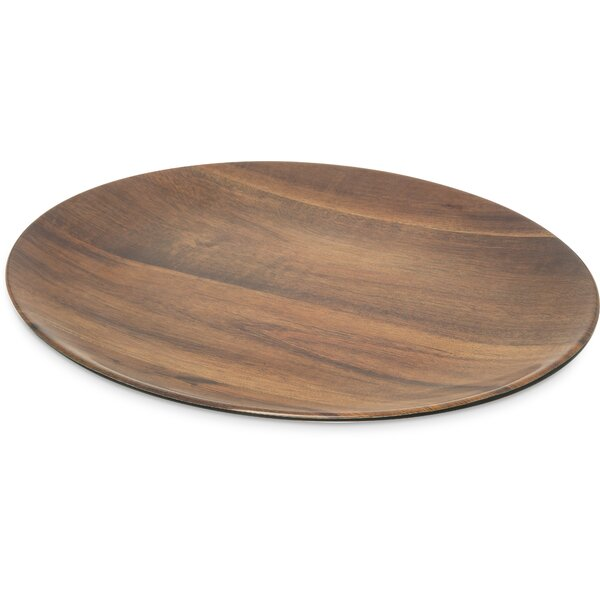 Epicure Melamine Acacia Grain Oval Platter (Set of 6) by Carlisle Food Service Products