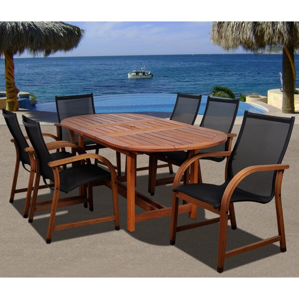 Trogdon International Home Outdoor 7 Piece Dining Set by Highland Dunes