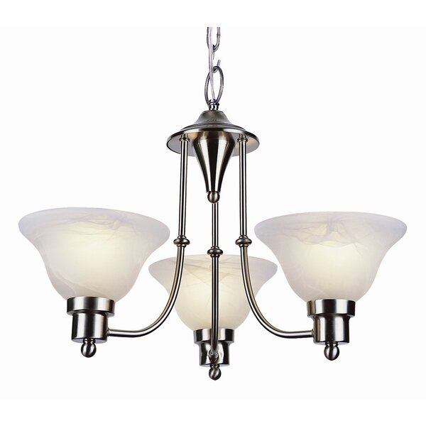 3 - Light Shaded Classic/Traditional Chandelier by Charlton Home Charlton Home