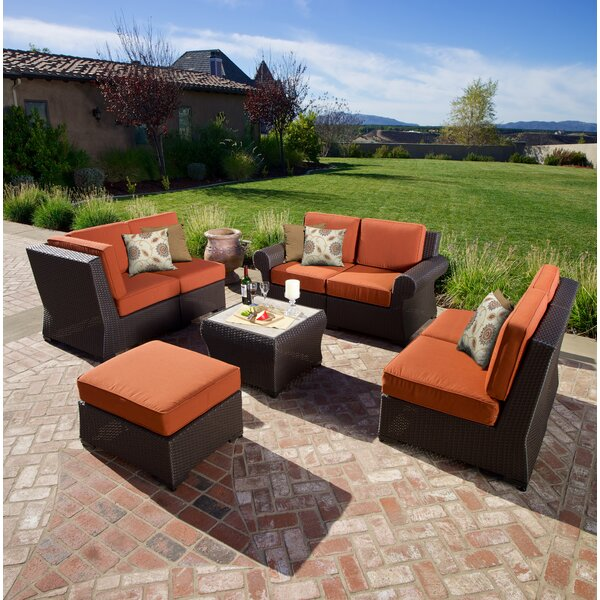 Holoubkov 8 Piece Sunbrella Sectional Set with Cushions by Bay Isle Home