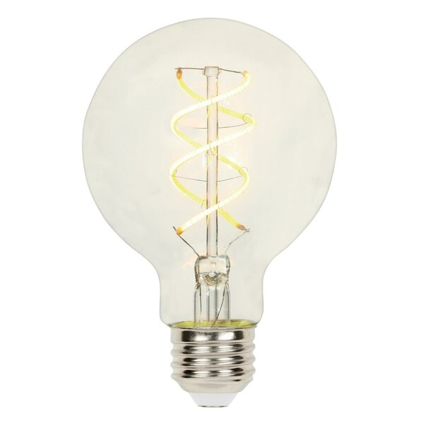 3W E26 Dimmable LED Edison Globe Light Bulb by Westinghouse Lighting