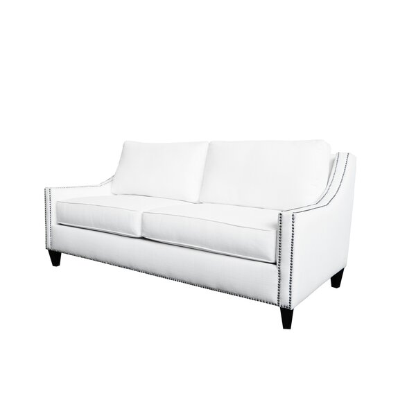 Cotton 78-inch Square Arm Sofa by Poshbin Poshbin