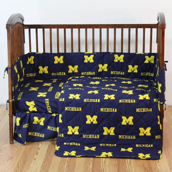 NCAA 5 Piece Crib Bedding Set by College Covers
