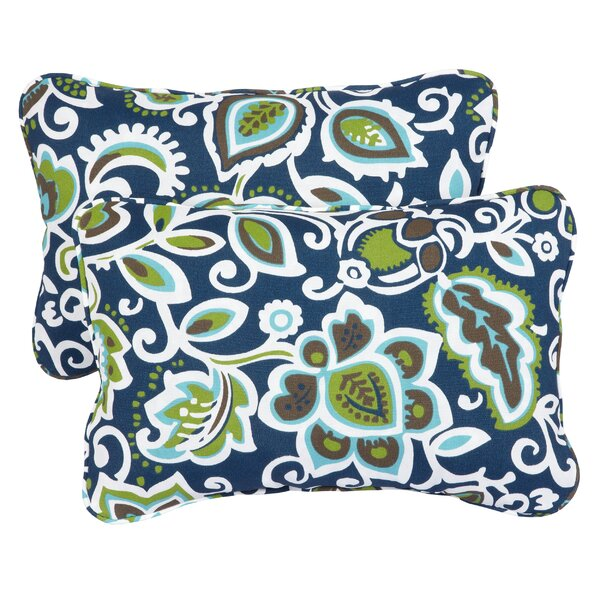 Hagopian Corded Indoor/Outdoor Lumbar Pillow (Set of 2) by Brayden Studio