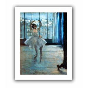 Dancer in Front of a Window (Dancer at the Photographers Studio)' by Edgar Degas  Painting Print on Rolled Canvas by ArtWall