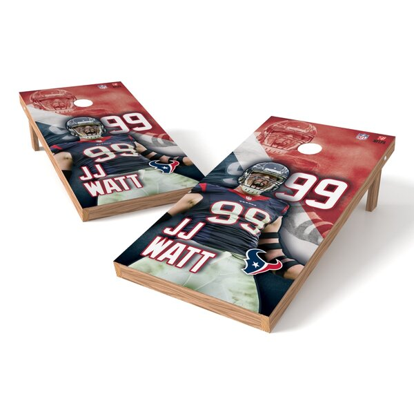 NFLPA Texans JJ Watt Cornhole Game Set by Tailgate Toss