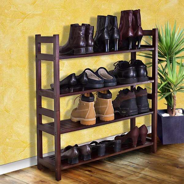 4-Tier 20 Pair Stackable Shoe Rack