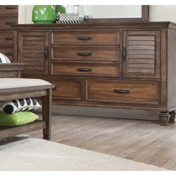 Indurial Wooden 5 Drawer Dresser by Loon Peak