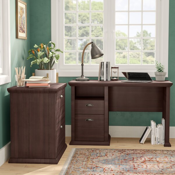 Ferrell Modern 2 Piece Desk Office Suite by Three Posts