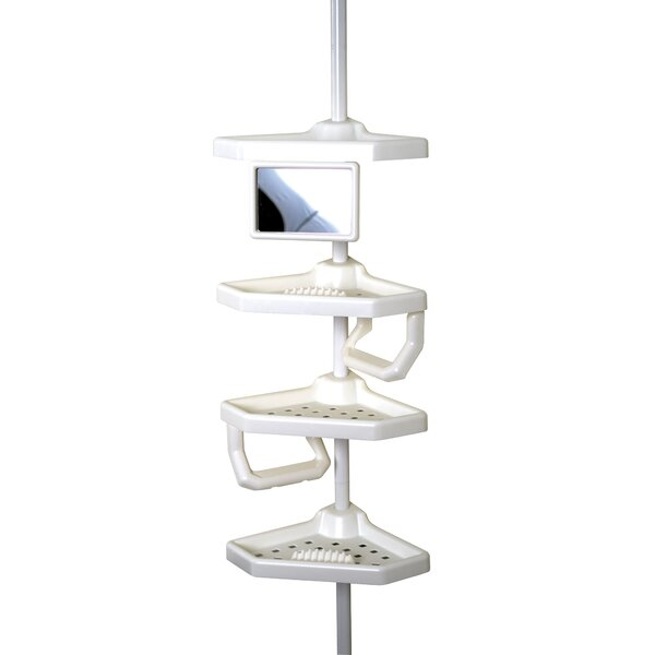 Four Shelves Pole Shower Caddy by Zenith Products
