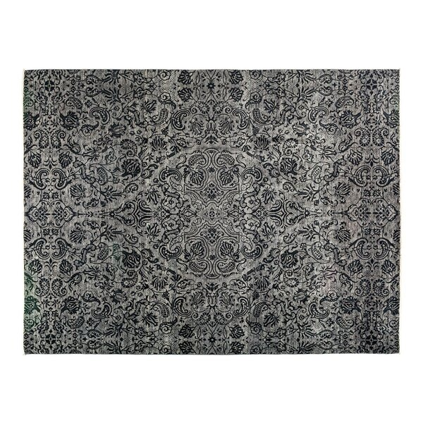 One-of-a-Kind Suzani Hand-Knotted Gray Area Rug by Darya Rugs