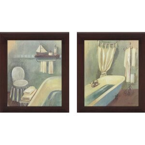 Bathroom 2 Piece Framed Painting Print on Canvas Set by Picture Perfect International