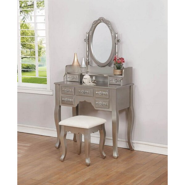 Fauntleroy Vanity Set with Mirror by Rosdorf Park