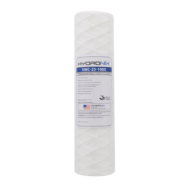 String Wound 5 Micron Under Sink Replacement Filter by Hydronix