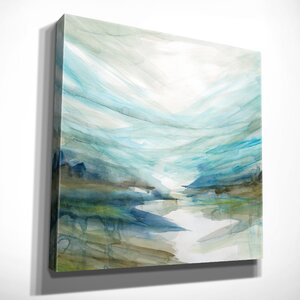 'Soft River Reflection' Acrylic Painting Print on Gallery Wrapped Canvas by Ivy Bronx