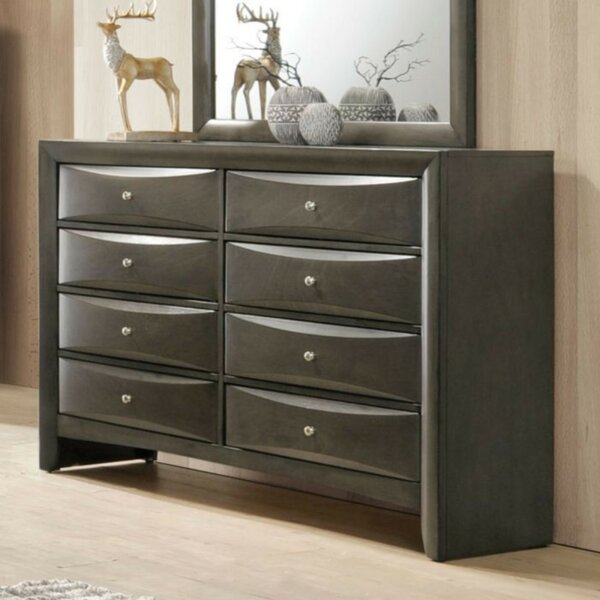 Rossford Wooden 8 Drawers Double Dresser by Ivy Bronx