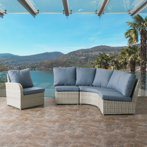 Killingworth 4 Piece Sectional Seating Group with Cushions by Rosecliff Heights Rosecliff Heights