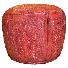 Colonial Leather Ottoman by New World Trading