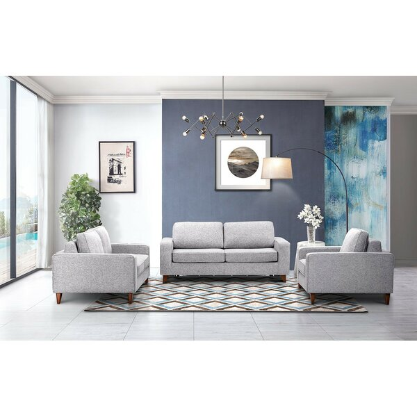 Artemas Sleeper 3 Piece Living Room Set by Brayden Studio