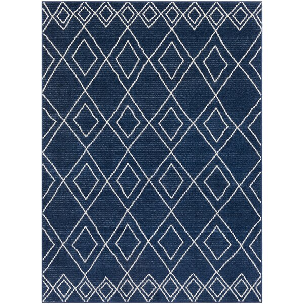 Calvo Bohemian Navy/Beige Area Rug by Union Rustic