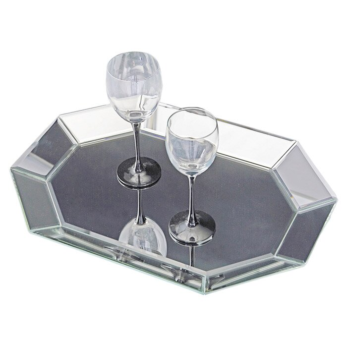 Silver Decorative Mirrored Tray