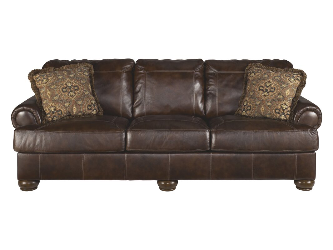 Darby Home Co Bannister Leather Sofa Reviews Wayfair