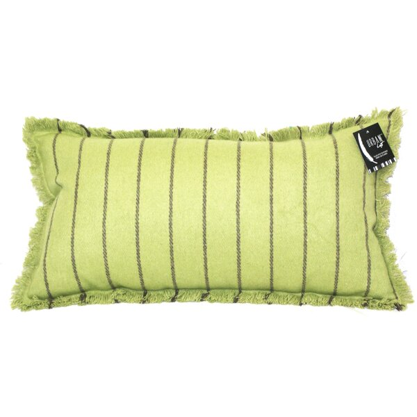 Tessier Fringe Stripe Lumbar Pillow by Latitude Run
