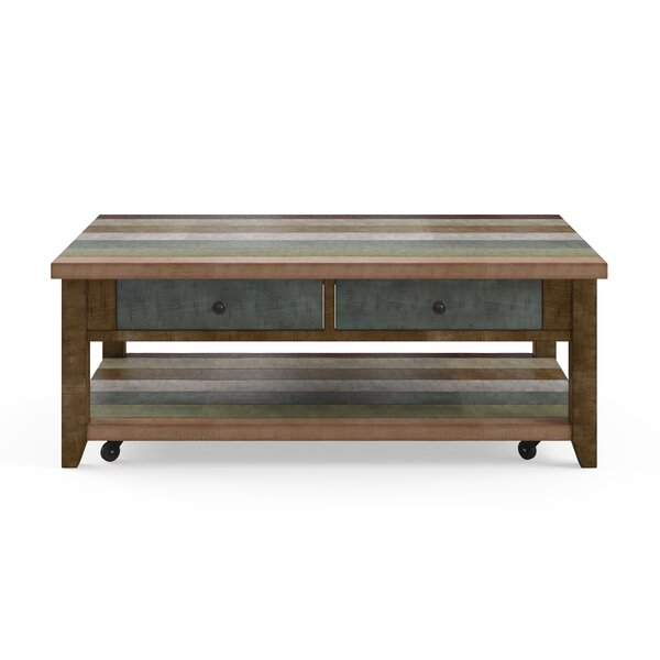 Nassau Street Coffee Table With Storage By World Menagerie