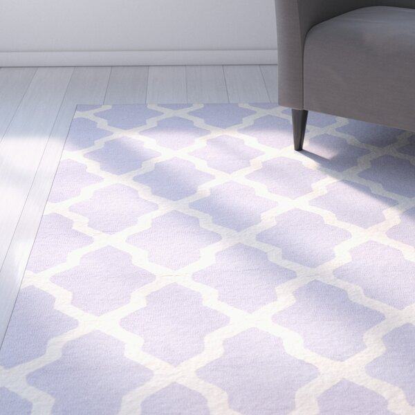 Charlenne Hand-Tufted Lavender/Ivory Area Rug by Zipcode Design