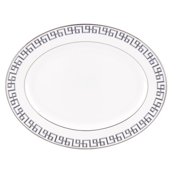 Brian Gluckstein Darius Silver Oval Platter by Lenox