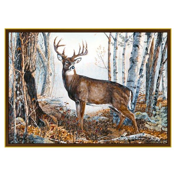 Wildlife Whitetail Brown/Blue Area Rug by Custom Printed Rugs