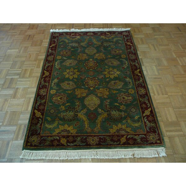 One-of-a-Kind Railey Hand-Knotted Wool Sage Green Area Rug by Astoria Grand