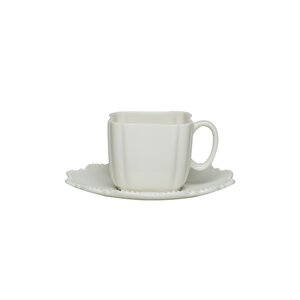 Pinpoint 12 Piece 3 oz. Espresso Cup and Saucer Set (Set of 6)