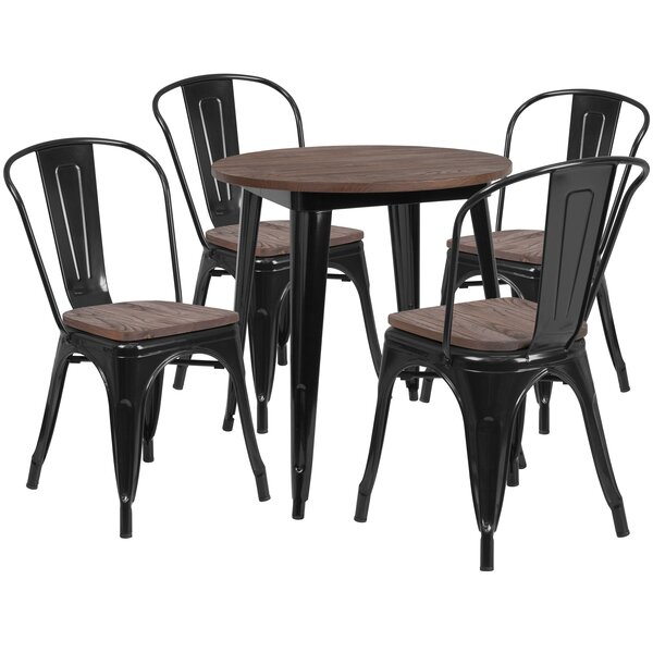 Probst 5 Piece Solid Wood Dining Set By Williston Forge Amazing