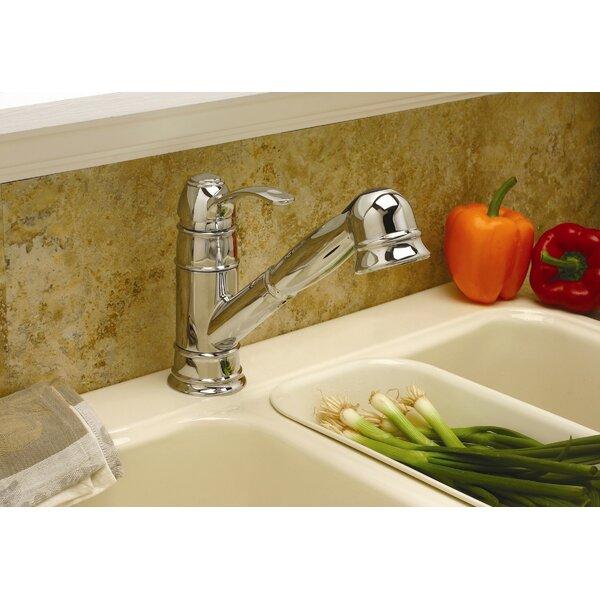 Wellington One Handle Centerset Pull-Out Kitchen Faucet by Premier Faucet