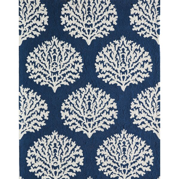 Cline Navy Area Rug by Highland Dunes