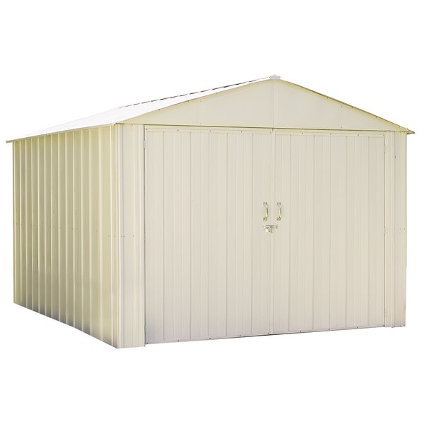 Commander 10 ft. W x 10 ft. D Vinyl-coated Steel Storage Shed by Arrow